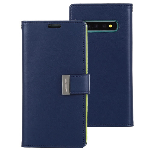 Rich Diary Wallet Case for Samsung Galaxy S10 (Navy & Green)