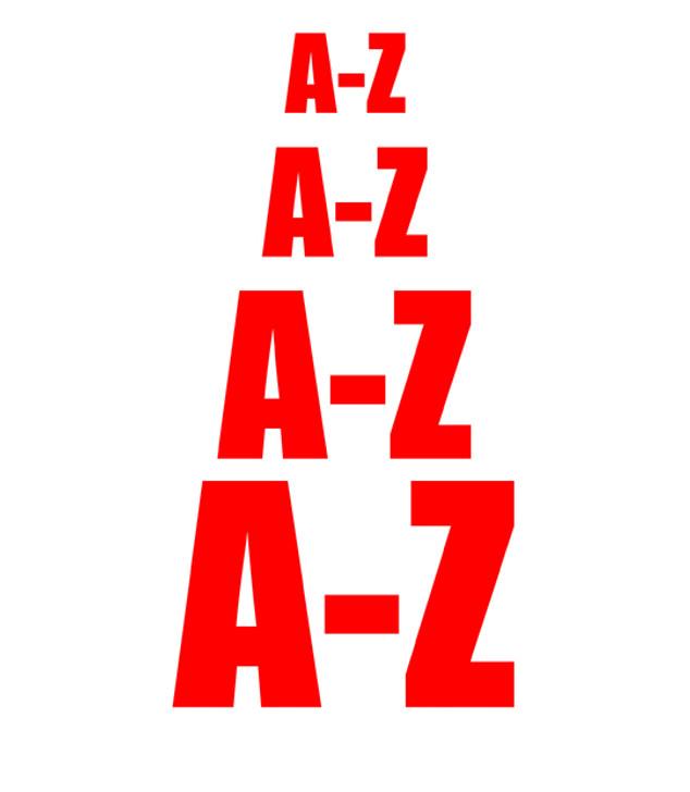DuraStripe Adhesive Letters