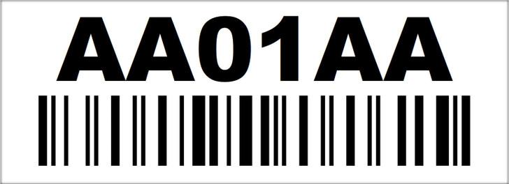 2x5.5 Rack Location Label