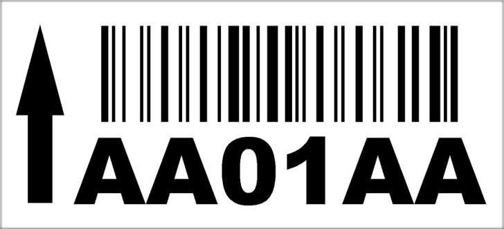 2.5x5.5 Rack Location Label