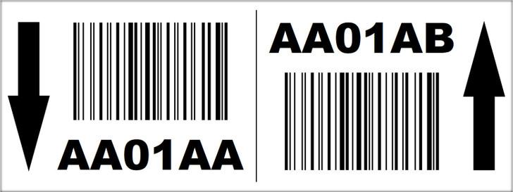 3x8 Rack Location Label