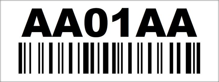 1.5x4 Rack Location Label