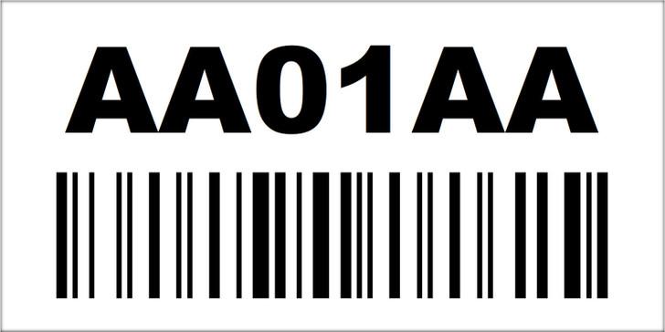 2x4 Magnetic Rack Label