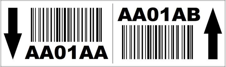 3x10 Magnetic Rack Label