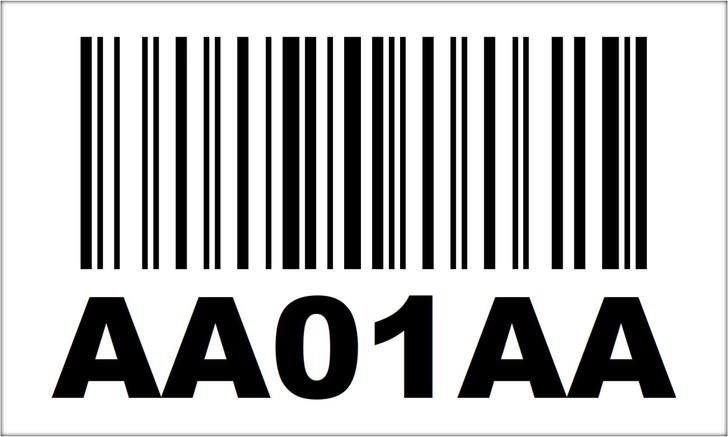 3x5 Magnetic Rack Label