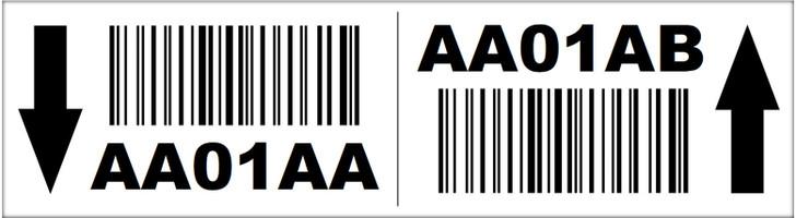 2.75x10 Magnetic Rack Label