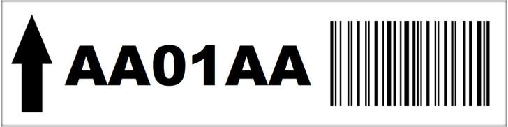 2.5x10 Magnetic Rack Label