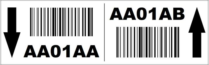 2.5x8 Magnetic Rack Label