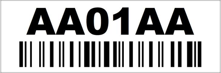 1x3 Rack Location Label