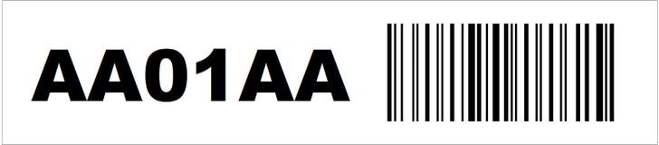 0.9375 x 4.25 Rack Location Label