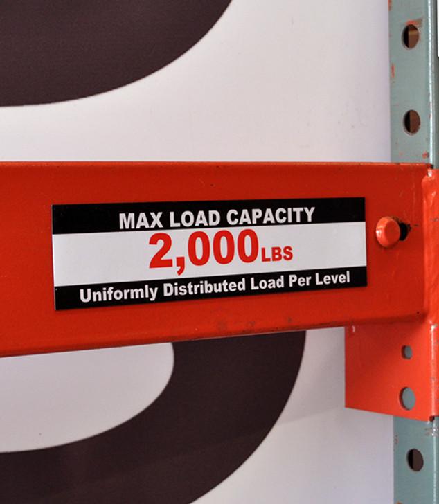 Magnetic Beam Load Label - T1