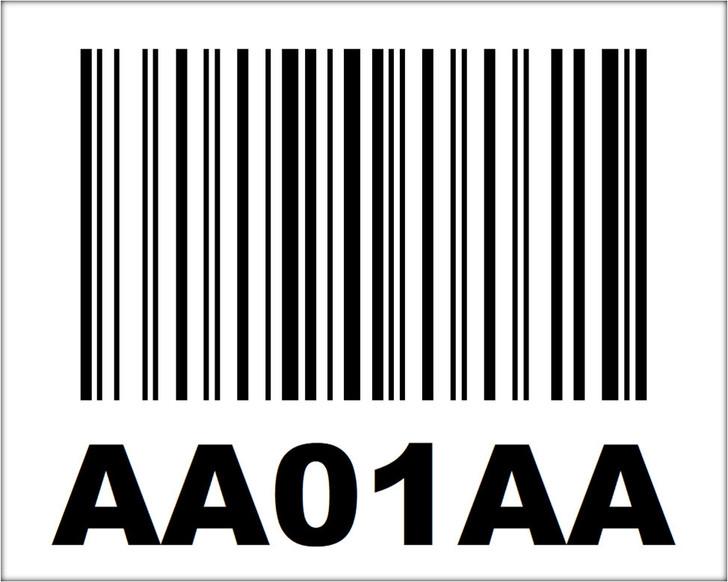 "4"" x 5"" Nonadhesive Linear Barcode"
