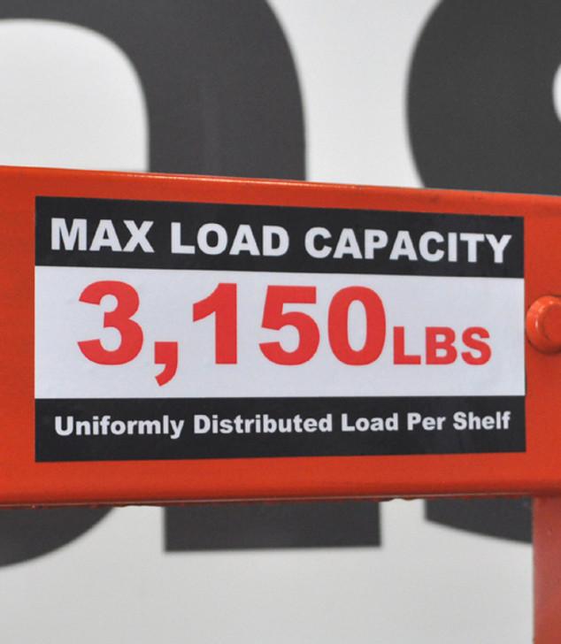 Custom Rack Load Label