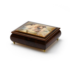 Handcrafted Ercolano Music Box Featuring The Letter by Brenda Burke
