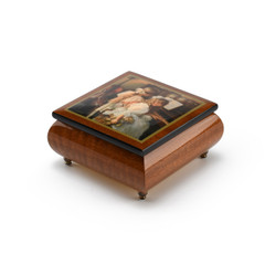 Handcrafted Ercolano Music Box with Painted Scene Rhapsody and Lace by Sandra Kuck