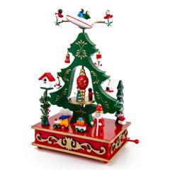 Animated Carnival Christmas Scene Musical Holiday Keepsake