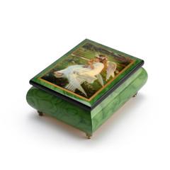 Handcrafted Ercolano Music Box Featuring Kitten Kisses by Sandra Kuck