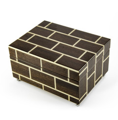 Modern Masonry Design Hand Made Sorrento Italian Reuge 36 Note Music Jewelry Box