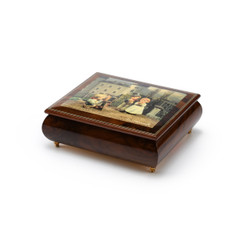 Handcrafted Italian Ercolano Musical Jewelry Box - The Photographer by MI Hummel