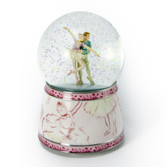 Amazing Ballet Couple Musical Snow Water Globe from Twinkle