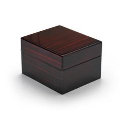 Modern Hi Gloss Macassar Finish 30 Note Music Jewelry Box