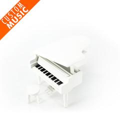 Matte White Miniature Custom USB Sound Module Piano Music Box
