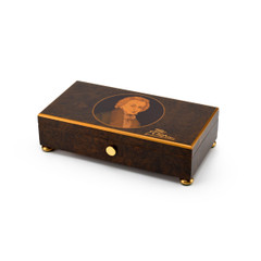 Rare 72 Note Frederic Chopin with Gold Leaf Accents Music Box