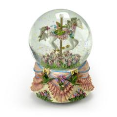 Gorgeous Hummingbird Carousel Musical Waterglobe - Choose Your Song