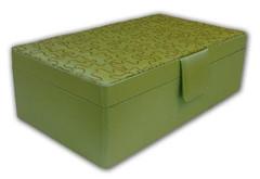 Perdiot Green Double Layered Rectangular Jewelry Box