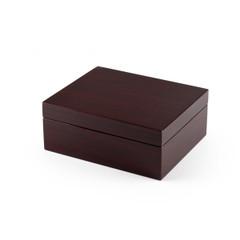 Contemporary Hi Gloss Walnut Finish Jewelry Box