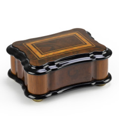 Gorgeous 36 Note Reuge Classic Style Wood Inlay Music Box