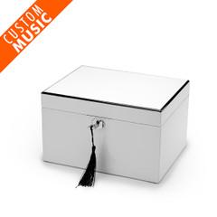 Ultra-Sleek Pearl White Lacquer USB Sound Module Music Jewelry Box