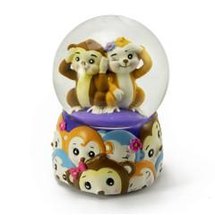 Jingle Jumbles Monkey See Monkey Do Musical Water Globe
