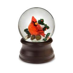 Cardinal Winter Time Snow Globe by San Francisco Music Box Co