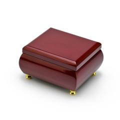 Alluring Hi Gloss Rosewood Simple Design Music Jewelry Box