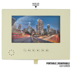 Soft Leather Wrapped Portable LCD Video Module - 7 Inch