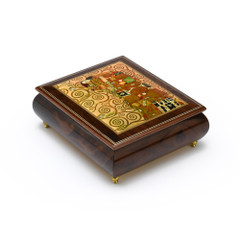 Handcrafted Ercolano Music Box - Painting of The Tree of Life by Gustav Klint