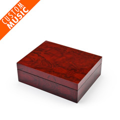 Modern Hi Gloss Burl Wood USB Sound Module Music Jewelry Box
