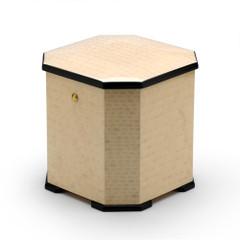 Harmonious Masonry Inspired Italian Ivory Stained 22 Note Musical Jewelry Box