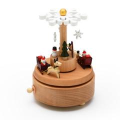Animated 18 Note Musical Wooden Christmas Wonderland Keepsake