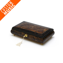 Custom Sound Module Digital Classic Style Walnut Musical Jewelry Box