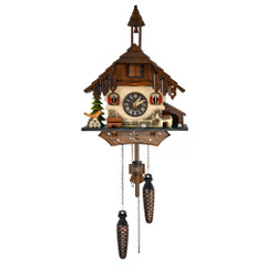 Black Forest Chalet with Bell Tower Quartz Musical Cuckoo Clock