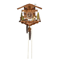 Black Forest Chalet 1 Day Mechanical Animated Wood Chopper Cuckoo Clock
