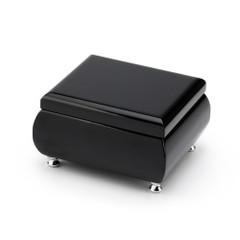 23 Note High Gloss Midnight Black Finish Musical Jewelry Box