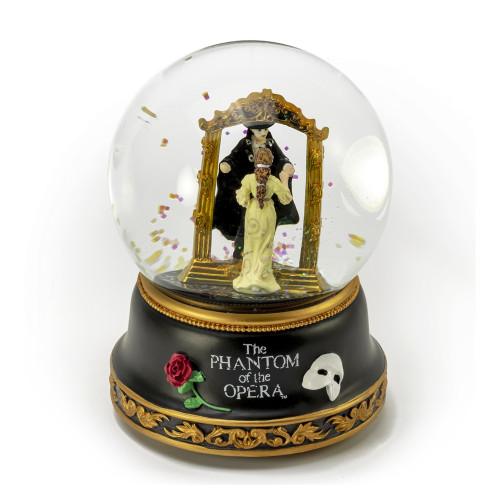 Phantom of the Opera Phantom and Christine Mirror Scene Musical Water Globe
