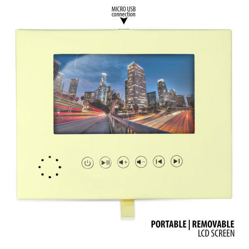Soft Leather Wrapped Portable LCD Video Module - 5 Inch