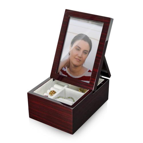 Ultra Modern 30 NOTE Fold-Up 6 x 4 Photo Frame Musical Jewelry Box