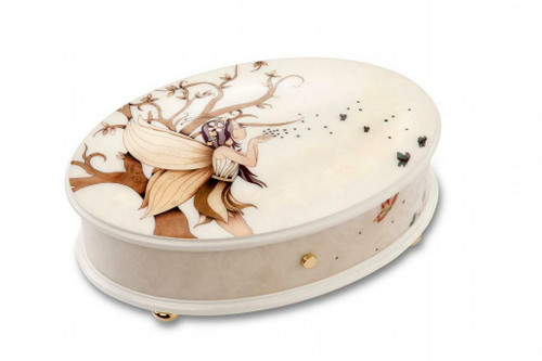 Reuge Enchanted Forest and Fairies 3.72 Note Music Box Titled Magic
