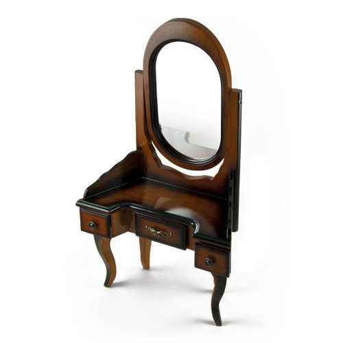 A Stunning Replica of a Miniature French-Provincial Style Vanity with Mirror