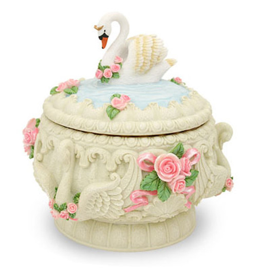 Swans and Roses Musical Keepsake by Twinkle